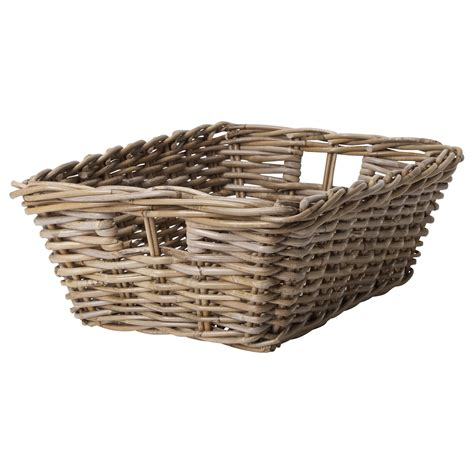 ikea baskets byholma basket grey 36x51x17 cm ikea