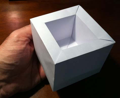 Japanese Origami Box - 360 masu setting the crease