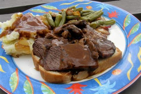 Fast Easy Dinner Open Roast Beef Sandwich fashioned open faced roast beef sandwich recipe