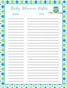 baby shower gift list template free baby shower gift list printable baby by celebratelifecrafts 8 best images of printable baby shower gift log baby