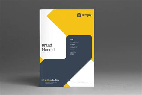 project handbook template brand manual template on behance