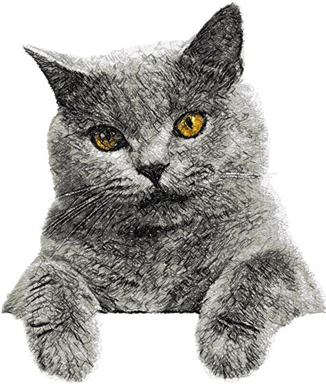 embroidery cat cat photo stitch free embroidery design 4 photo