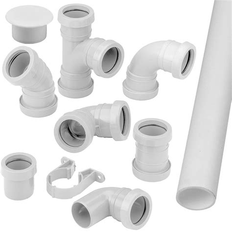 Plumbing Fittings by Pushfit Waste Pipe Fittings Connectors Bends Branches