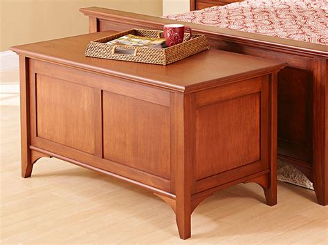 Bedroom Furniture Wood Plans Traditional Blanket Chest Woodworking Plan From Wood Magazine