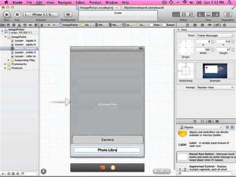 xcode picker tutorial uiactionsheet and uiimagepickercontroller tutorial doovi