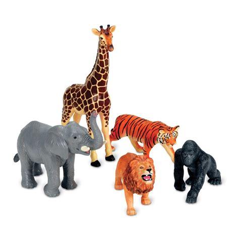 Hewan Mainan Edukatif Animal Figure Set jumbo jungle animals 5 pc safari animals playset educational toys planet