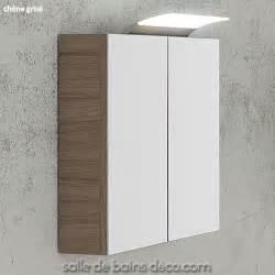 armoire salle de bains miroir meuble suspendu 60cm achat