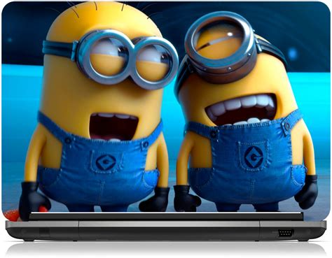 zapskin despicable   laughing minions vinyl laptop