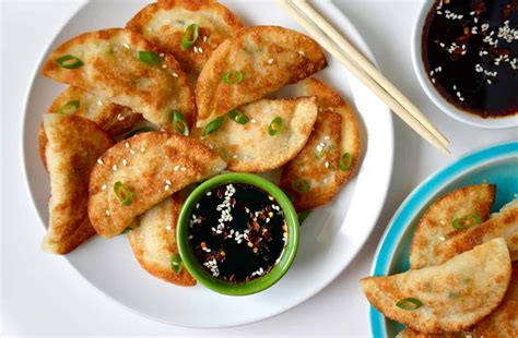 easy chicken recipes easy chicken potstickers with soy dipping sauce just a taste
