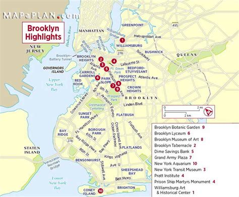map of nyc attractions new york city tourist attractions map images
