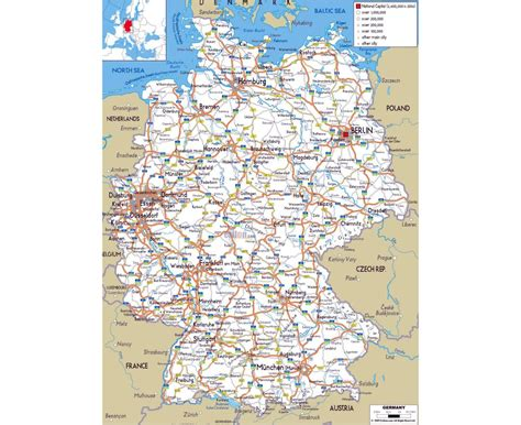 roadmap of germany maps of germany detailed map of germany in