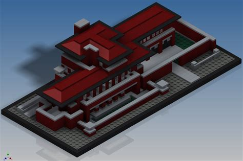 lego robie house lego architecture robie house 21010 autodesk inventor other 3d cad model
