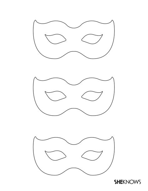 Printable Mask Template Free | masquerade masks free printable coloring pages