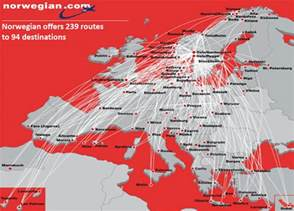 Norwegian Airlines Route Map by Europe S Third Largest Lcc Norwegian Continues Aggressive