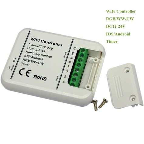 led lights wifi controller ce rohs 5 channel mini rgb led wifi controller remote wifi