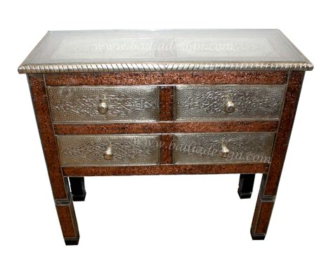 Moroccan Cabinet by Moroccan Silver Nickel And Brass Cabinet From Badia Design