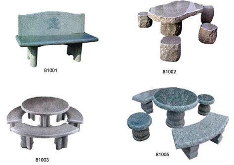 stone table and bench set garden patio basalt stone table and bench furniture set