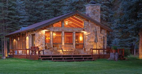 Luxury Log Cabin Plans by Gorgeous Forest Edge Cabin Home Design Garden