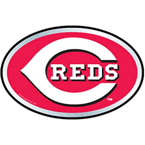 mlb emblems hc cincinnati reds color auto emblem