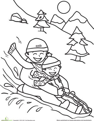 sledding worksheet education com