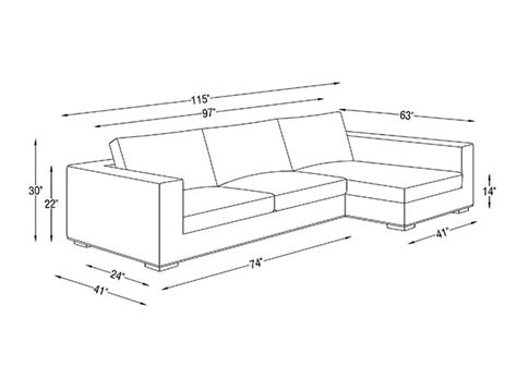 length of couch 24 best images about dimensions on pinterest sectional
