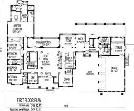 Large Bungalow House Plans large 6 bedroom bungalow 10000 sf one storey dream house plans designs