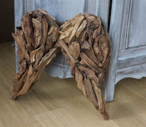 Rustic Wooden Decorative Angel Wings