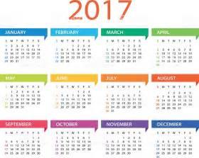 Kalender 2017 En 2018 Calendar 2017 Illustration Stock Vector 592662188 Istock