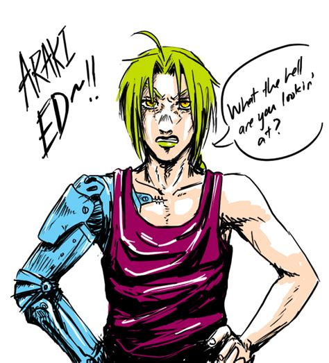 jojo anime art style fma araki ed by feriowind on deviantart