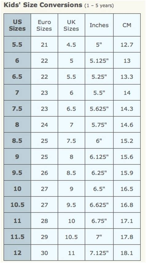 shoe size chart new look 17 best images about tot on pinterest shoe size chart