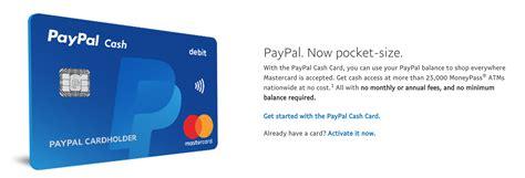 Paypal Business Debit Card Atm