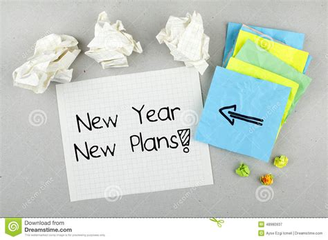 new year new plans concept stock photo image 48980937