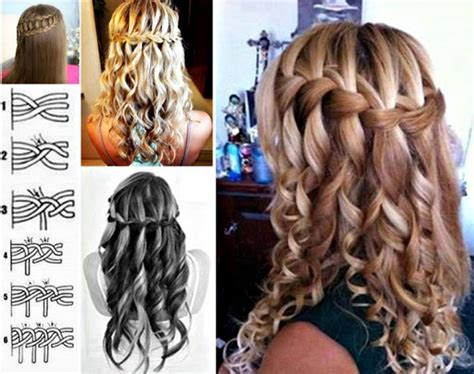 hairstyles how to do a waterfall how to do lovely waterfall braid hairstyle how to