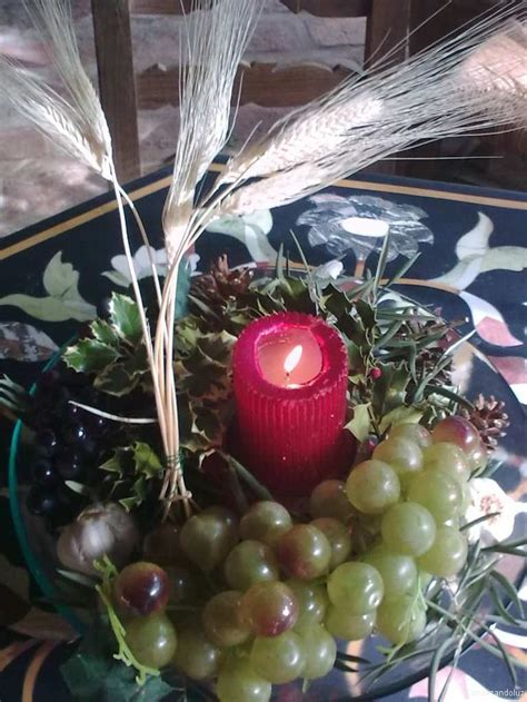 adornos con espigas centro de mesa de ayme luzyan las siete espigas de trigo