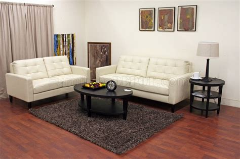 cream sofa set caledonia sofa set cream bonded leather by wholesale interiors