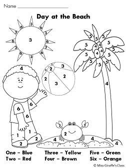 summer math coloring pages summer math color by number worksheets common cores