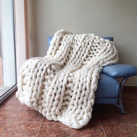 chunky knit blanket merino wool wool blanket