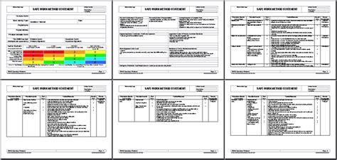 safe work method statement template wa plumbing work method statement