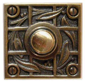 Handmade Door Bells - waterglass studios handmade vine and trellis brass door