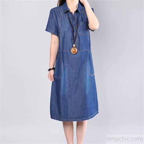 Cotton Denim Dress new denim blue cotton dress plus size cotton