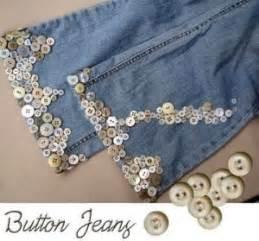 decorar jeans con botones reciclar los botones