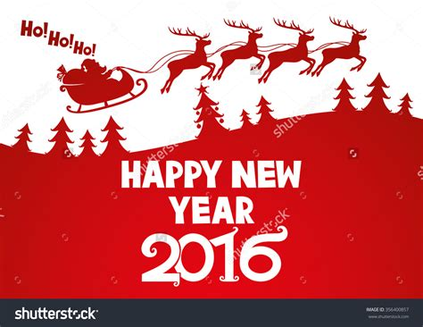 new year wishes vector vector illustration santa wishes happy new year