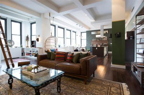 my houzz bachelor s nyc pad contemporary kitchen houzz tour coffee and world travel inspire a bachelor pad
