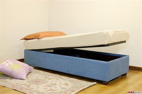 letto contenitore senza testata letto con contenitore singolo senza testata anche su misura