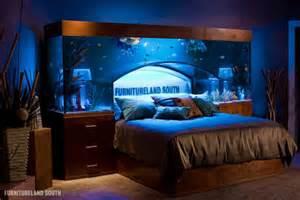 a custom made seawater aquarium headboard