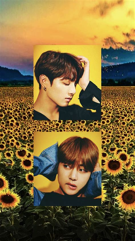 kim taehyung yellow vkook wallpaper jeon jungkook x kim taehyung yellow