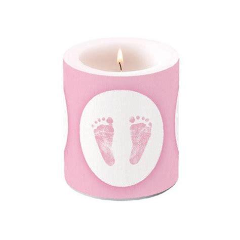 rosa kerzen kerze babyf 252 223 e rosa wei 223 taufe kerzen und zubeh 246 r