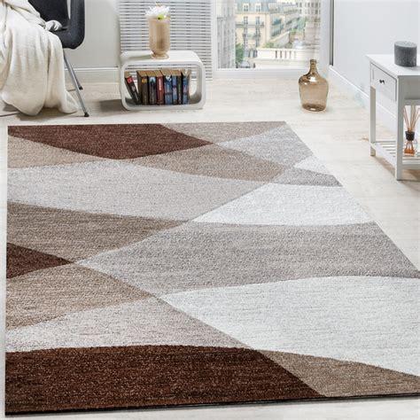 tappeto soggiorno pelo corto tappeto di design moderno motivo onde arcuate linee pelo