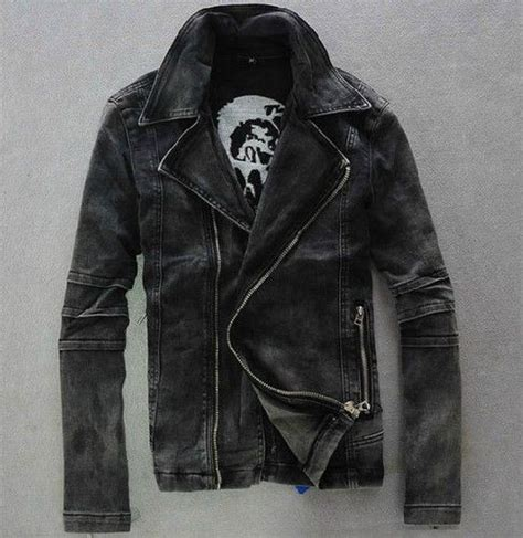 denim motorcycle jacket mens punk motorcycle moto biker denim hoody jean jacket