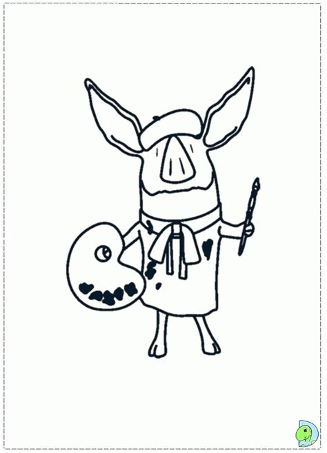 olivia pig coloring page olivia the pig coloring page coloring home